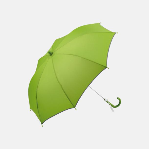 Limegrön Säkra barnparaplyer med eget reklamtryck