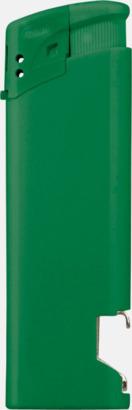 Grön Påfyllningsbara tändare med kapsylöppnare - med reklamtryck