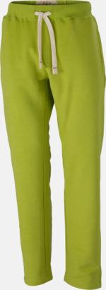 Limegrön (herr) Färgglada mjukisbyxor i herr- och dammodell med reklamtryck
