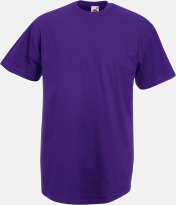 Lila Valueweight t-shirt med tryck