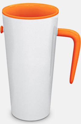 Orange / Vit Porslinsmuggar med eget tryck