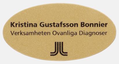 Guld Namnbrickor med namntryck