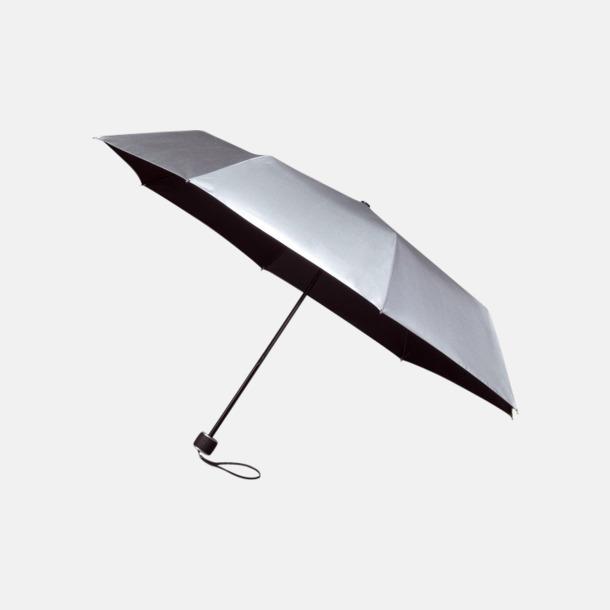 Svart/Silvergrå (2) Paraplyer med tryck