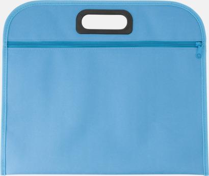 Ljusblå Billiga dokumentfodral i många färger - med reklamtryck