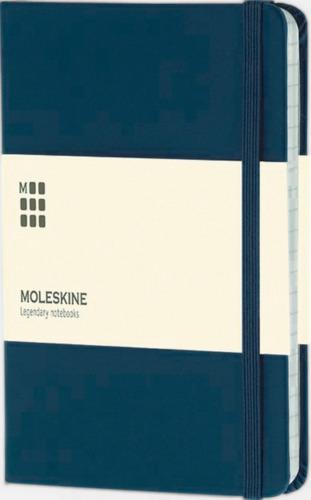 Mörkblå (ruled) Moleskines mindre (ca A6) anteckningsböcker med linjerade eller rutade sidor - med reklamtryck