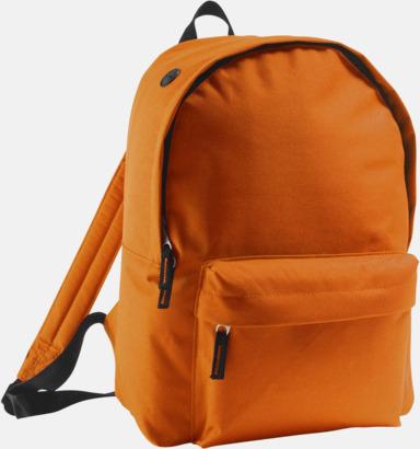 Orange Billiga ryggsäckar med ege tryck