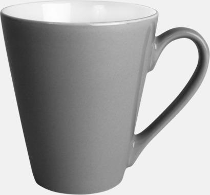 Mörkgrå Klassiskt kaffekopp i mångar fina färger