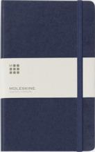 Moleskines stora anteckningsböcker (ca A5) med linjerade eller rutade sidor - med reklamtryck