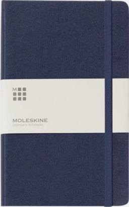 Indigo Blue (ruled) Moleskines stora anteckningsböcker med linjerade eller rutade sidor - med reklamtryck