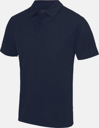 French Navy Färgglada pikétröjor med reklamtryck