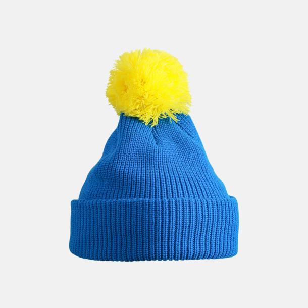 Azurblå/Gul Toppluvor med uppvik - med brodyr