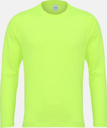 Electric Yellow (unisex) Unisex tränings t-shirts med långa ärmar - med reklamtryck