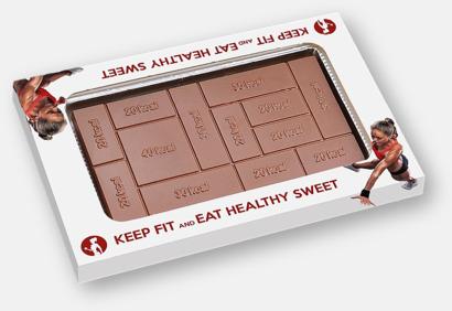Chokladkaka med lättöverskådligt kaloriintag med eget tryck