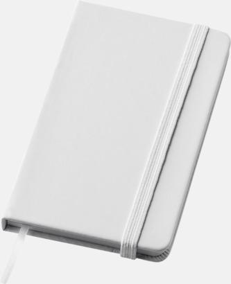 Vit (small) Notisblock med PVC-omslag - med tryck