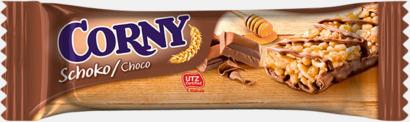 Chocolate (25 gram) Müslibars i flera varianter från Corny med reklamtryck