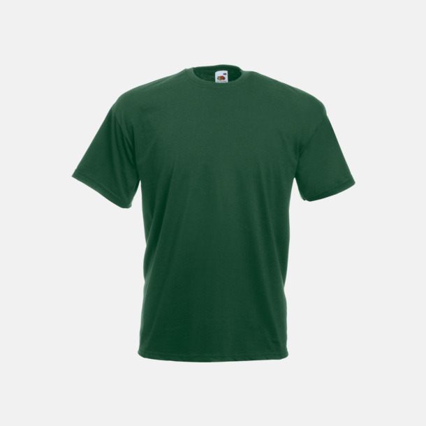 Bottle Green Valueweight t-shirt med tryck