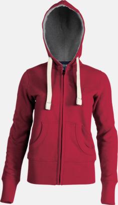 Vintage Red (dam) Kvalitetströjor i herr- & dammodell med reklamtryck