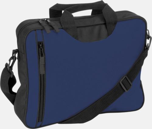 Blå Användbara dokumentväskor med reklamtryck