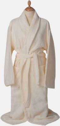 Ivory Färgglada badrockar med brodyr