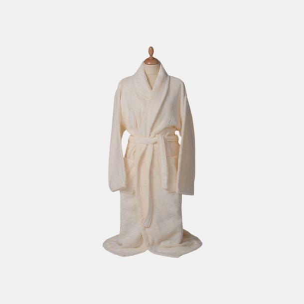 Ivory (pastell) Färgglada badrockar med reklambrodyr