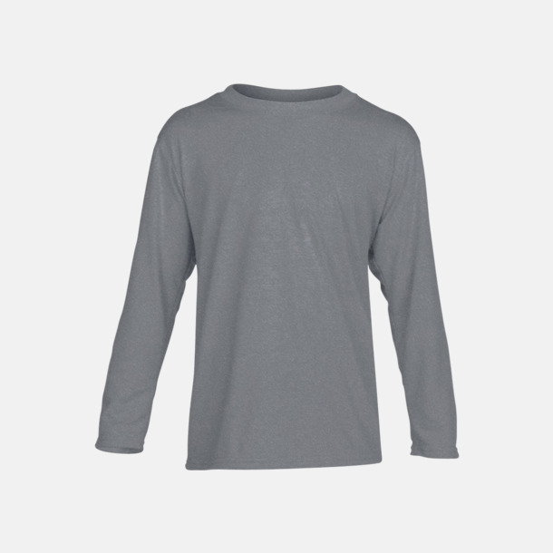 Sport Grey (barn) Långärmade funktionströjor för vuxna och barn med reklamtryck