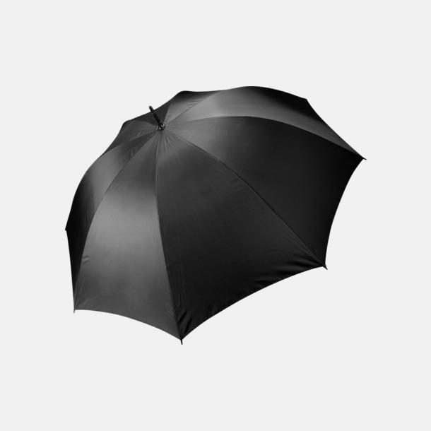 Svart Stormsäkra, 2-färgade paraplyer med reklamtryck
