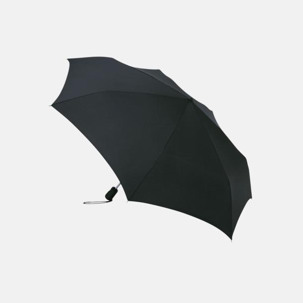 Svart Basildon kompakt - små paraplyer med reklamtryck