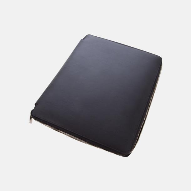 Svart (liten) Surfplattefodral i 2 storlekar i premiumläder med reklamlogo