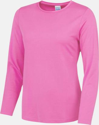 Electric Pink (endast dam) Unisex tränings t-shirts med långa ärmar - med reklamtryck