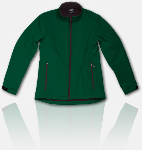 Bottle Green Soft shell-jackor för herr, dam & barn med reklamtryck