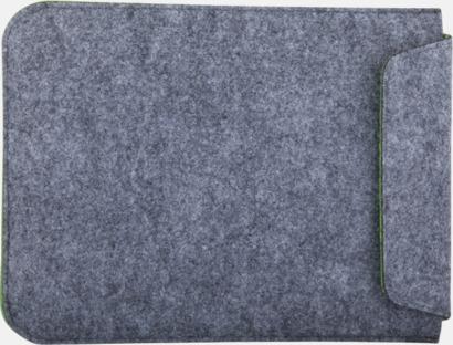 Grå / Limegrön Surfplattefodral med kardborrestängning med reklamtryck