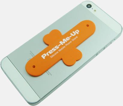 Orange Flexibla mobilställ av silikon med reklamtryck