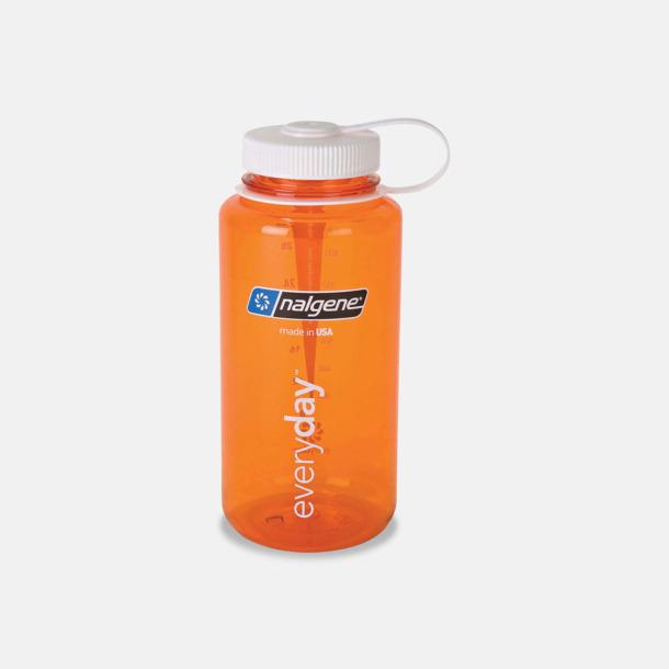 Orange / Vit Färgglada vattenflaskor med eget tryck