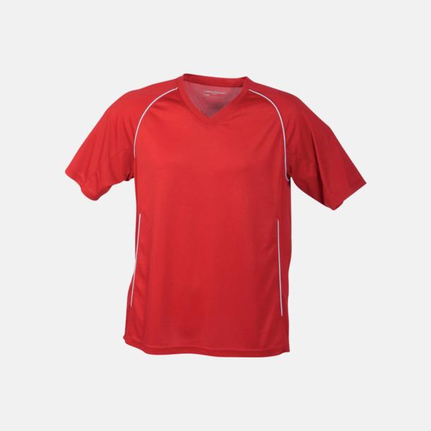 Röd T-shirt i funktionsmaterial