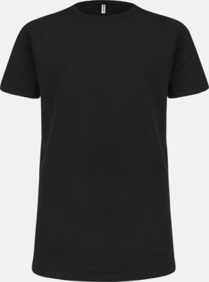 Svart Funktions t-shirts i många färger för barn - med reklamtryck