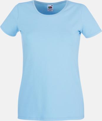 Sky Blue Dam t-shirt med reklamtryck