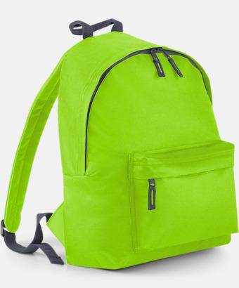 Limegrön/Graphite Grey Klassisk ryggsäck i 2 storlekar med eget tryck