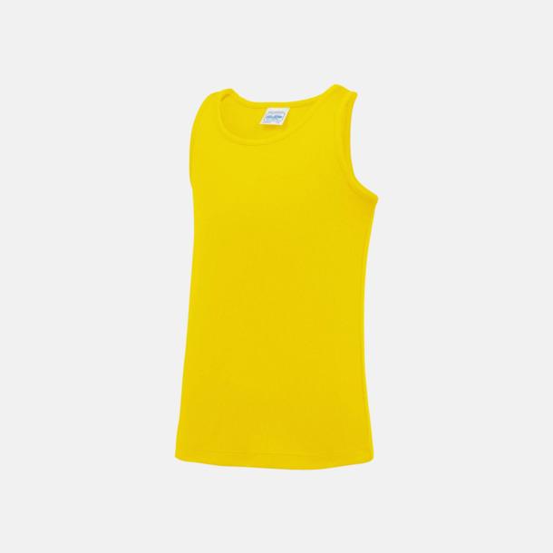 Sun Yellow (barn) Enfärgade funktionslinnen i unisex-, dam & barnmodell med reklamtryck