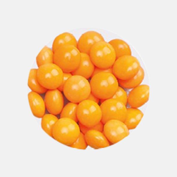 Minidragéer (apelsin) Tablettboxar i 2 storlekar - med reklamtryck