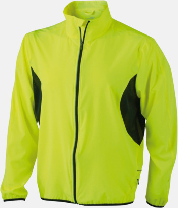 Fluorescerande Gul/Orange Lightweight löparjackor med eget tryck