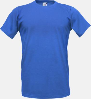 Royal Blue Tajtare reklamt-shirt med figurnära passform