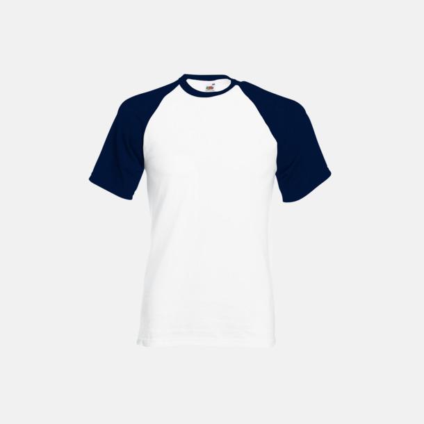Vit/Deep Navy T-shirtar med reklamtryck