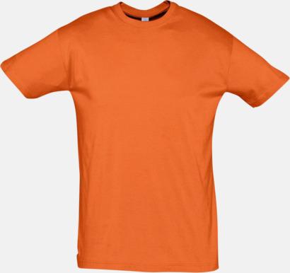 Orange Billiga herr t-shirts i rmånga färger med reklamtryck