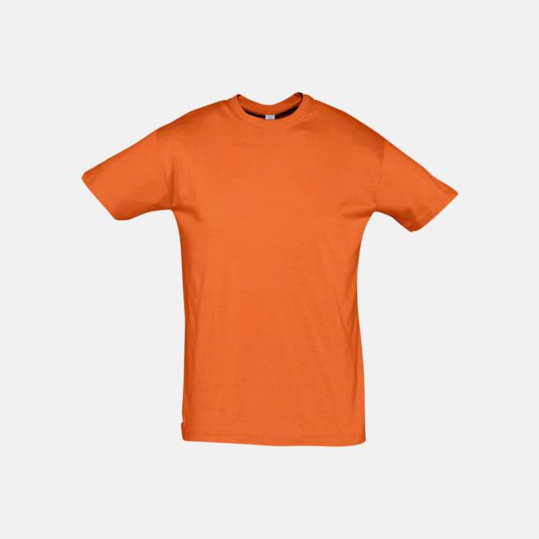 Orange Billiga unisex t-shirts i många färger med reklamtryck
