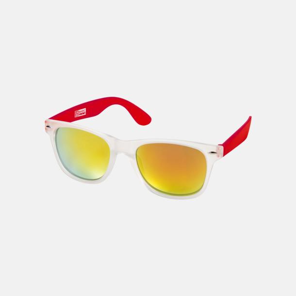 Röd Snygga och säkra solglasögon med färgade linser - med reklamtryck