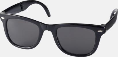 Svart Solglasögon med vikbar ram - med tryck