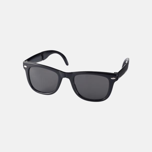 Svart Solglasögon med vikbar ram - med reklamtryck