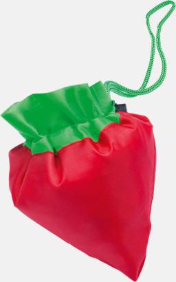 Fruktformade nylonkassar med reklamtryck