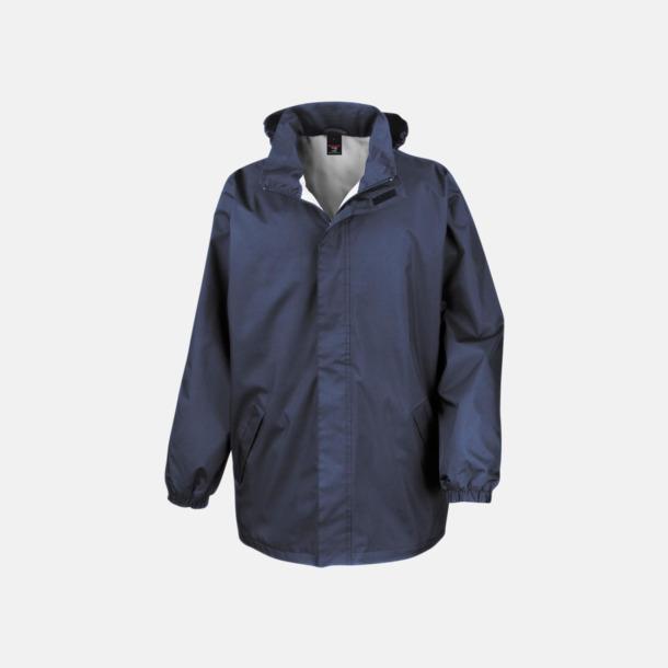 Marinblå Kvalitetsjackor i unisexmodell med reklamtryck