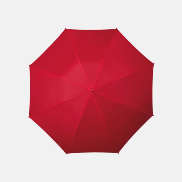 Röd (PMS 1797C) Färgstarka och eleganta paraplyer med reklamtryck